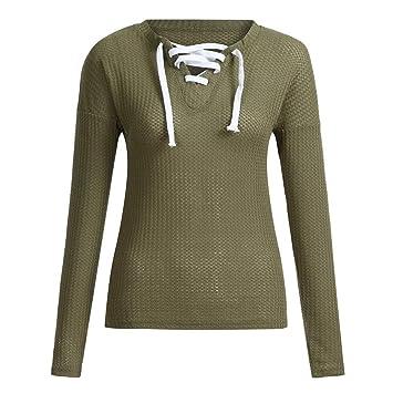 1f40311f46a Amazon.com: Sale for Coat,AIMTOPPY Women's V-Neck Strap Knit Long ...