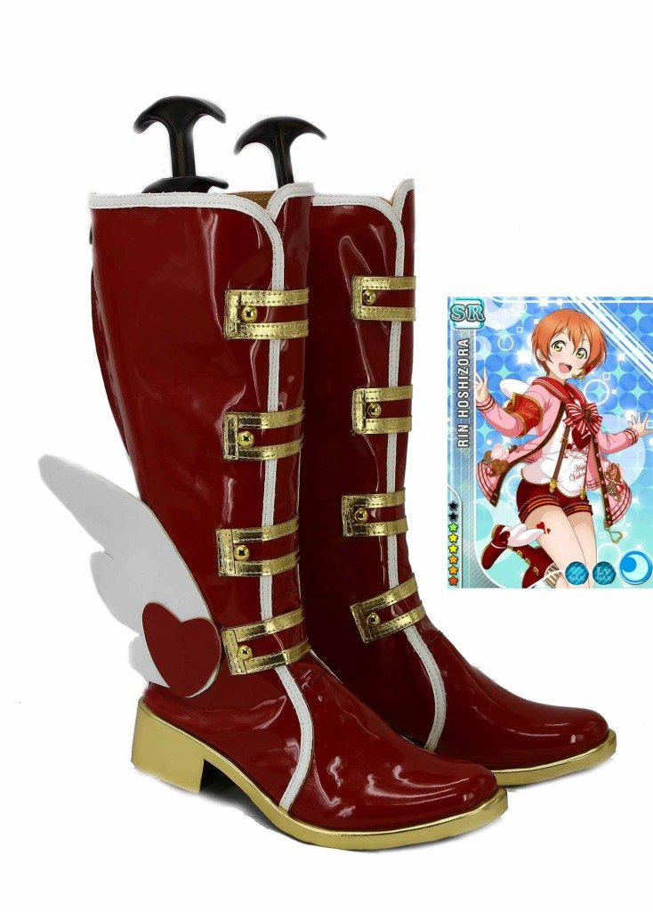 LoveLive! Love Live Happy Valentine's Day Chocolate Hoshizora Rin Cosplay Shoes Boots Custom Made