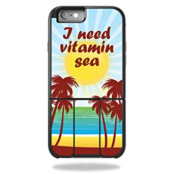 best cheap b5fc8 c741b MightySkins Skin for OtterBox Universe iPhone 6 Plus / 6S Plus Case –  Vitamin Sea | Protective, Durable, and Unique Vinyl Decal wrap Cover | Easy  to ...