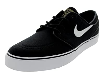 cc90bf0c191 Nike Mens Zoom Stefan Janoski Cnvs Blk white gm Lght Skate Shoe (8