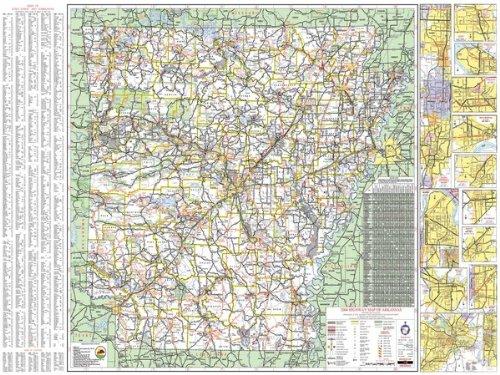 Arkansas County Maps - 36x48 Arkansas State Official Executive Laminated Wall Map