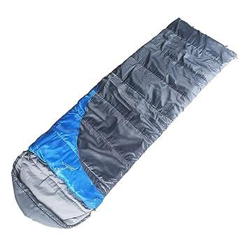 COCO Saco de dormir para acampar al aire libre Otoño Invierno Portátil Doble amantes costura equipo de viaje (Color : Azul) : Amazon.es: Jardín
