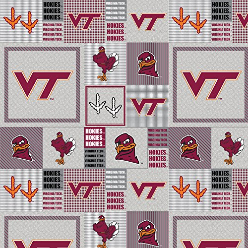Virginia Tech Fleece (Virginia Tech Fleece Fabric-VT Heather Grey Fleece Fabric Sold by the Yard)