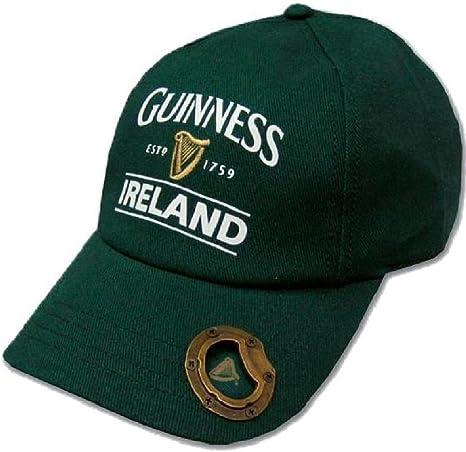 Gorra de béisbol Guinness con abrebotellas y texto de Irlanda Est ...