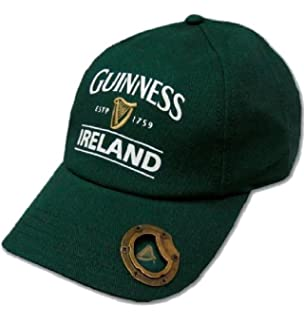 2677ed0466c Bottle Green Guinness Baseball Cap With Bottle Opener And Ireland Est. 1759  Text