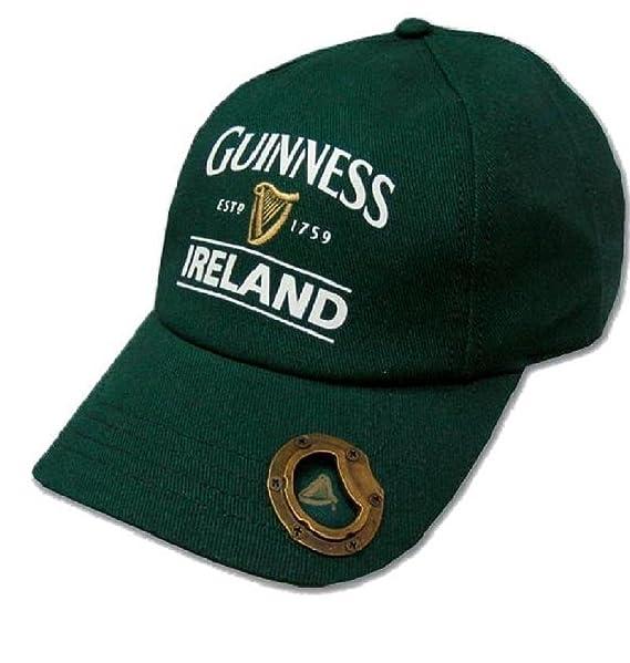 4d3f50cd2 Bottle Green Guinness Baseball Cap With Bottle Opener And Ireland Est. 1759  Text