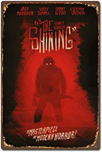 NNHG Tin Sign 8x12 inches The Shining Horror Movie Film Poster Design Vintage Retro Tin Sign