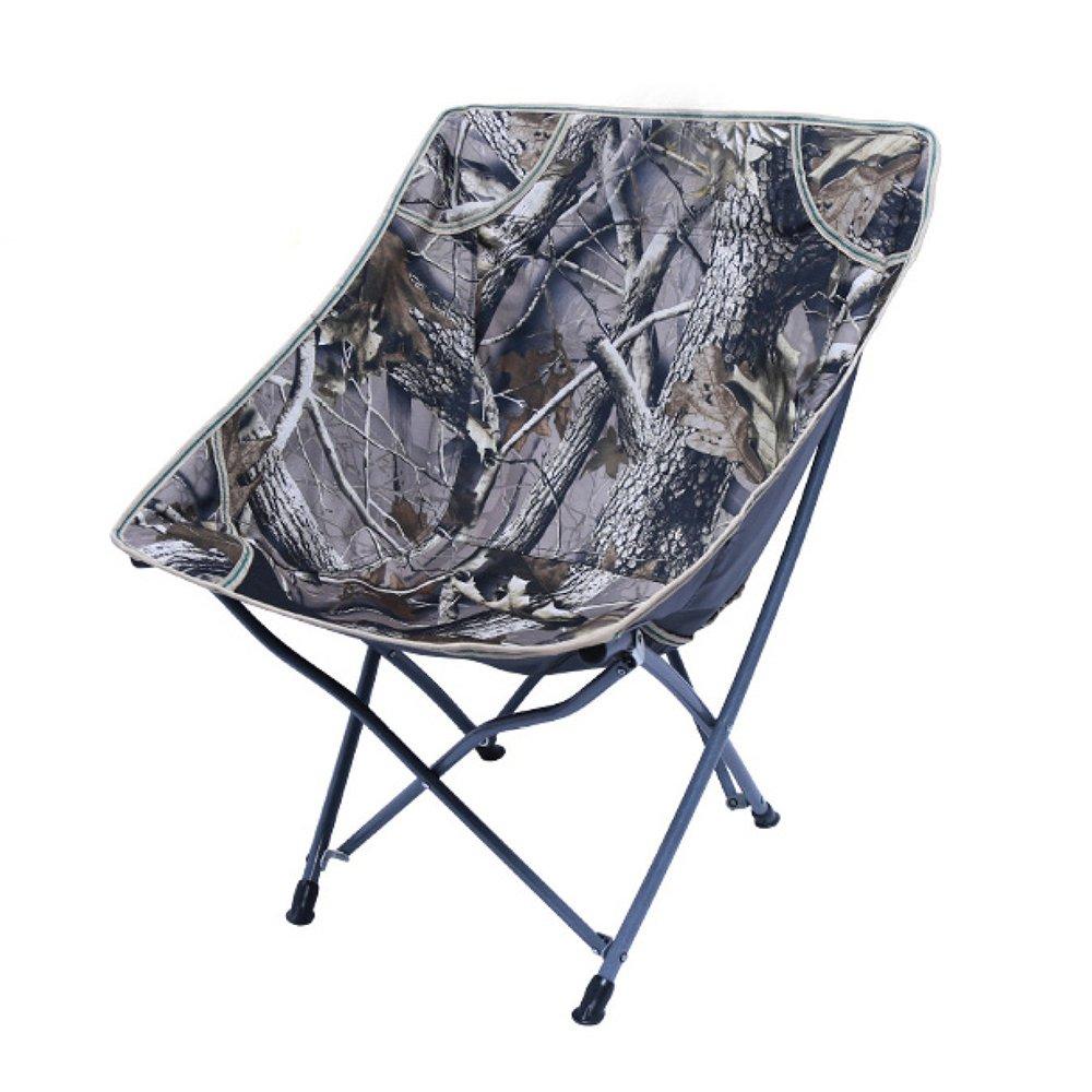 LDFN Portable Camping Chair Outdoor Faltbar Ultraleichter Schreibstuhl Strand Oxford Stoff und Stahlstuhl,OneFarbe-604074cm