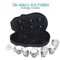 Ejoyous 3D Skull Ice Cube Moulds