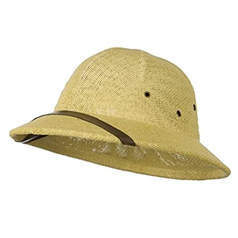 9a90b3a9fd395 Amazon.com   Natural Tan Seagrass Pith Safari Jungle Helmet Hat    Everything Else