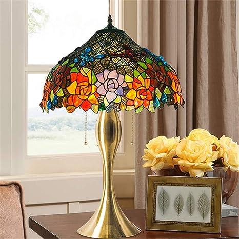 12-inch 2 Estilo Tiffany Lámpara de mesa Lámpara de mesa Retro ...
