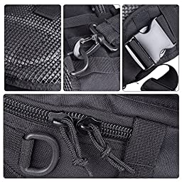 Outdoor Small Sling Tactical Molle Bag Military Pack Sport Daypack Shoulder Backpack Chest Rucksack for Bicycle Camping Hiking Trekking Travel