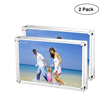 Amazoncom Ameitech Acrylic Picture Frames 4x6 Clear Double