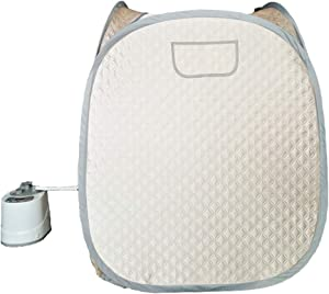 Smartmak Portable Steam Sauna, one Person Full Body Spa Tent at Home for Detox & Weight Loss, 2L Steamer with Romote Control- Champagne