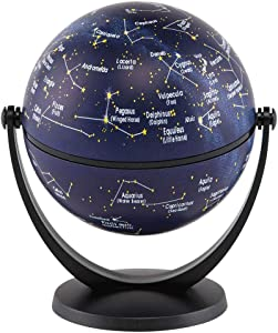 "Waypoint Geographic GyroGlobe 4"" Stars & Constellations Compact Mini Globe Swivels in All Directions - Perfect for Small Spaces at Home, Office & Classroom"