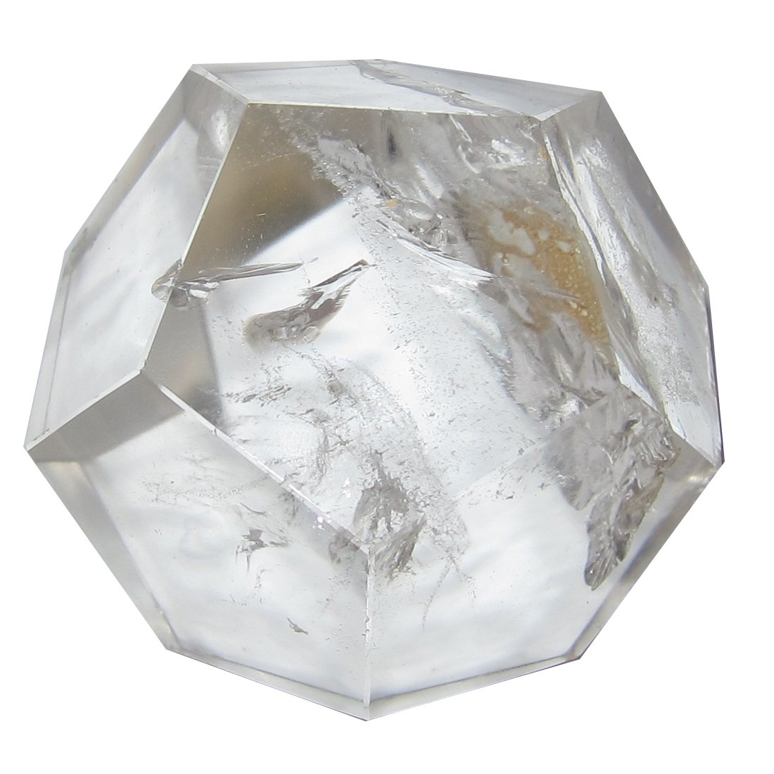 Quartz Polygon Clear 50 Very Nice 12 Sided Dodecahedron Powerful Spiritual Energy Stone Crystal 2.2''