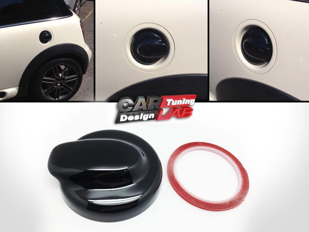 CarLab Rev/êtement de bouchon de r/éservoir pour Mini Cooper 2006-2013/S R56 R57 R58 R59 MK2 Noir brillant