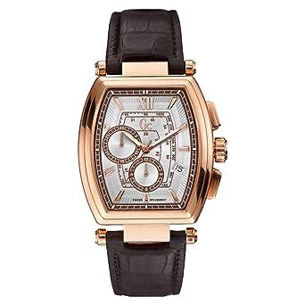 GUESS COLLECTION - Montre Homme Guess Collection GC Retrao Class Y01003G1  Bracelet Cuir Marron - Y01003G1 dc9e2745f30
