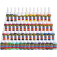 Solong Tattoo Ink Set 54 Complete Colors Pigment Kit 1/6oz (5ml) Tattoo Supply for Tattoo Kit TI1001-5-54
