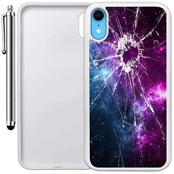 size 40 45c64 64b13 Amazon.com: Custom Case Compatible with iPhone XR (Cracked Screen ...