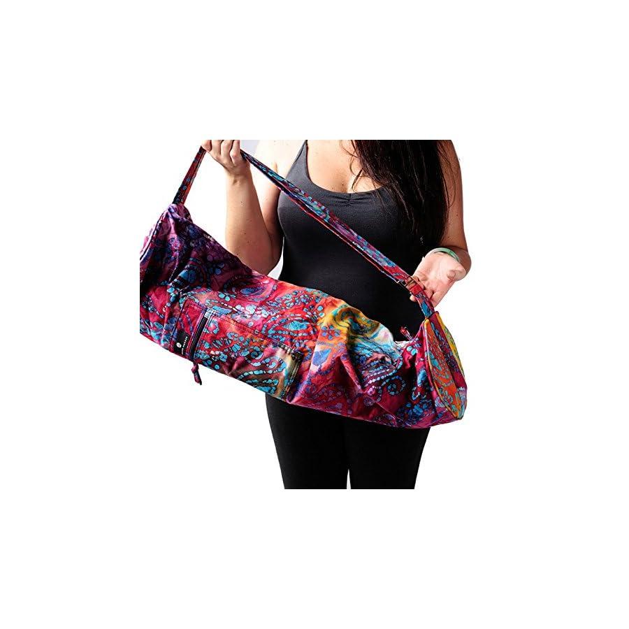 Hugger Mugger Batik Yoga Mat Bag (Multi Purple)