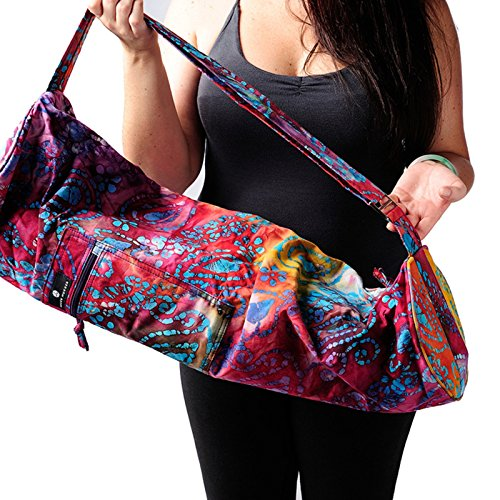 Hugger Mugger Batik Yoga Mat Bag, Purple Multi