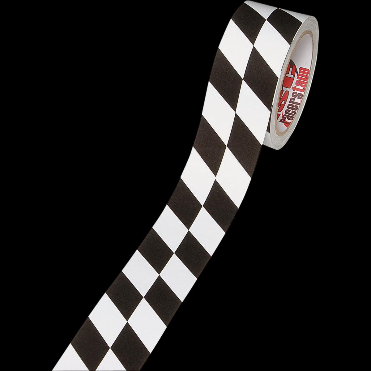 ISC Black /& White Checkerboard Tape Black//White Square pattern x 15 yds. 3 in