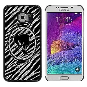LECELL--Funda protectora / Cubierta / Piel For Samsung Galaxy S6 EDGE SM-G925 -- Silhouette Mirror Silver Glitter --