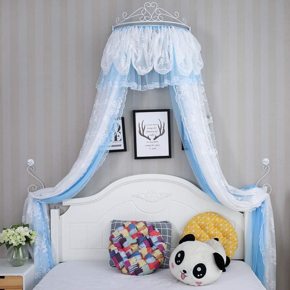 姫ベッドキャノピー,クラウン ドーム蚊帳 女の子のプレイルームのためのレースベッドカーテン ベッド-c