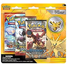 Pokemon TCG Legendary Collector's Pin with 3 Booster Pack, Zapdos