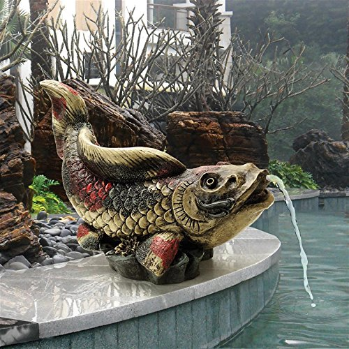 Madison Collection Showa Asian Koi Spitter Piped Statue