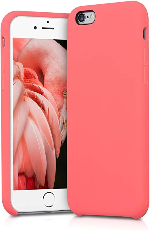 kwmobile TPU Silicone Case for Apple iPhone 6 / 6S - Case Slim Protective Phone Cover with Soft Finish - Neon Coral