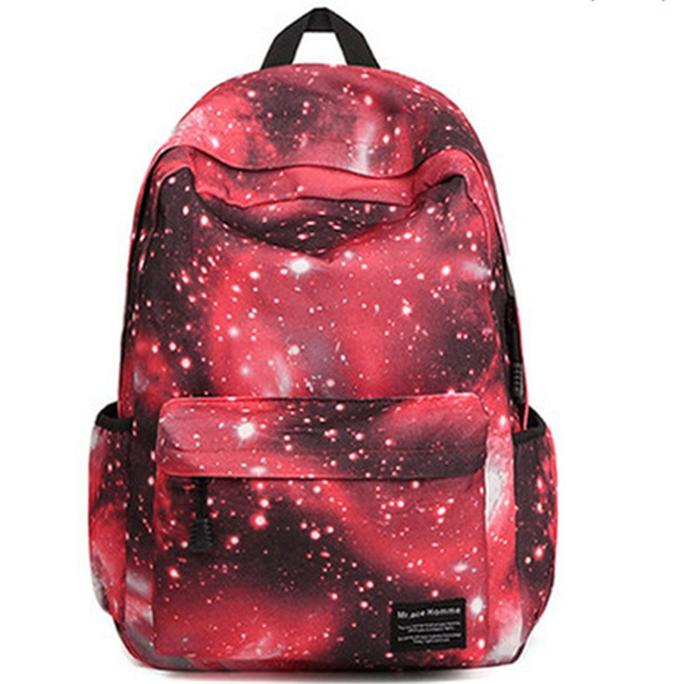YTM(TM) Unisex romantic Starry Sky style Soft Nylon Backpack fashion Schoolbag travel runsack (Blue)