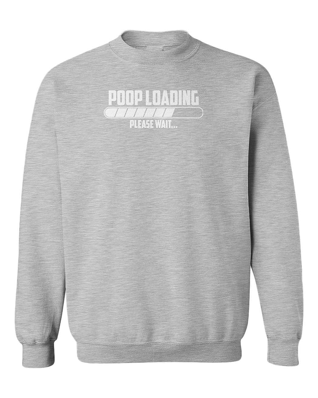 Tcombo Poop Loading/… Humor Joke Funny Youth Fleece Crewneck Sweater