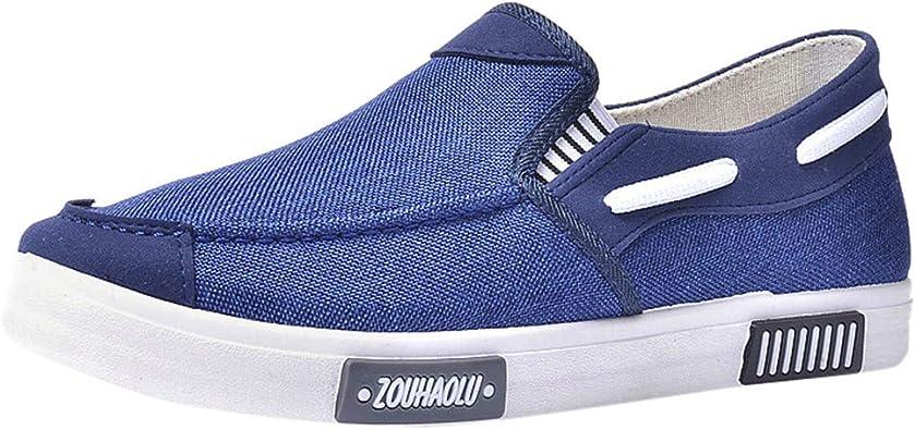 Zapatos de Lona Hombre Vestir Casual Zapatillas Deportivas Running Sneakers Corriendo Transpirable Cómodos Suaves y Livianos Calzado 39-44 riou: Amazon.es: Zapatos y complementos