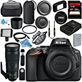 Nikon D5600 DSLR Camera (Body Only) (Black) 1575 AF-S 200-500mm f/5.6E ED VR Lens 2005895mm UV Filter + 256GB SDXC Card + Card Reader + Professional 160 LED Video Light Studio Series Bundle
