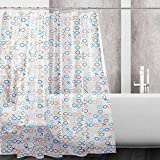 kilokelvin Waterproof Mold and Mildew-Resistant PEVA Shower Curtain Bathroom Shower Liners with 12