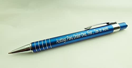 Personalised Pen Promotional Engraved With your name or logo Bue Aluminium Pen not cheaper plastic Comparable