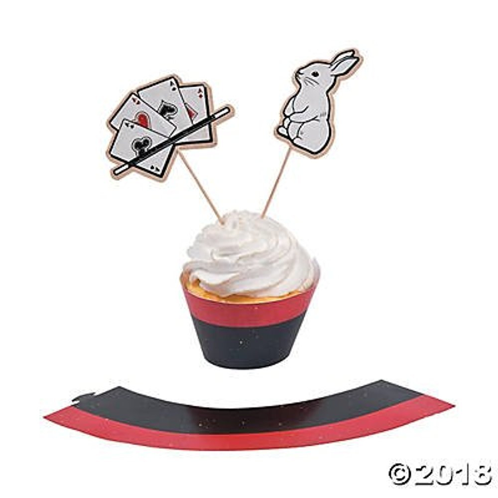 Magic Party Cupcake Wrappers with Picks - Makes 50 treats