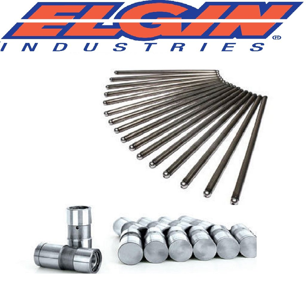 Ford V8 Small Block 302 Lifters & Pushrods Flat Tappet 1969 -Present 6.881' Length (Non Roller Cams) Elgin Industries