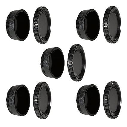 Amazon com : CamDesign 5 Set Camera Body Cap & Camera Lens