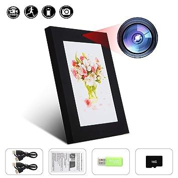 Cámara oculta gsmade marco de fotos marco de cámara espía 16 GB Mini DVR detección de movimiento 1280 * 960 HD videocámara de vigilancia: Amazon.es: ...