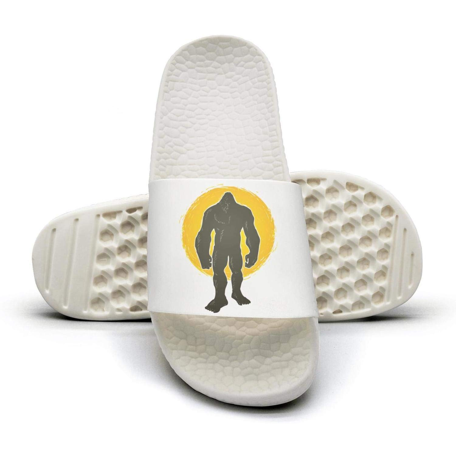 WooWe I believe in bigfoot mens Fashion Slippers Sandals Casual