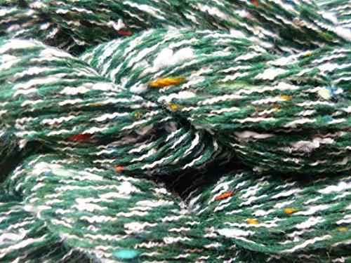 FOUR PACK Multicolor Tweed Slubs Green White Fingering Knitting Crochet Yarn