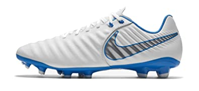 6416db297fea4 Nike Men's's Tiempo Legend 7 Academy Fg Footbal Shoes White/Chrome-Blue Hre  107