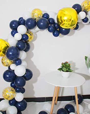 Amazon.com: Paquete de 50 globos de látex de color azul ...