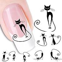 Sannysis® Gatto sticker manicure decalcomania punte di arte del chiodo
