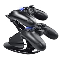 DinoFire PS4 Controller Charger, Dual Shock 4 Controller Charger PlayStation 4 USB Charging Station, PS4 Charging Dock for Sony PS4/PS4 Slim/PS4 Pro Controller