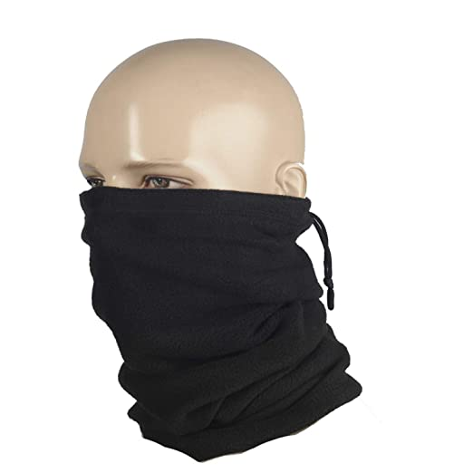 M-Tac Neck Warmer Fleece 260 Gaiter Heavyweight Winter Head Scarf Face Mask  Black ( 01a5e7daabd