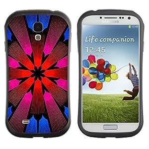 "Pulsar iFace Series Tpu silicona Carcasa Funda Case para SAMSUNG Galaxy S4 IV / i9500 / i9515 / i9505G / SGH-i337 , Iglesia Diseño floral púrpura rosada"""